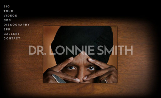DR. LONNIE SMITH, MUSICIAN   (SQUARE SPACE SITE DESIGN)
