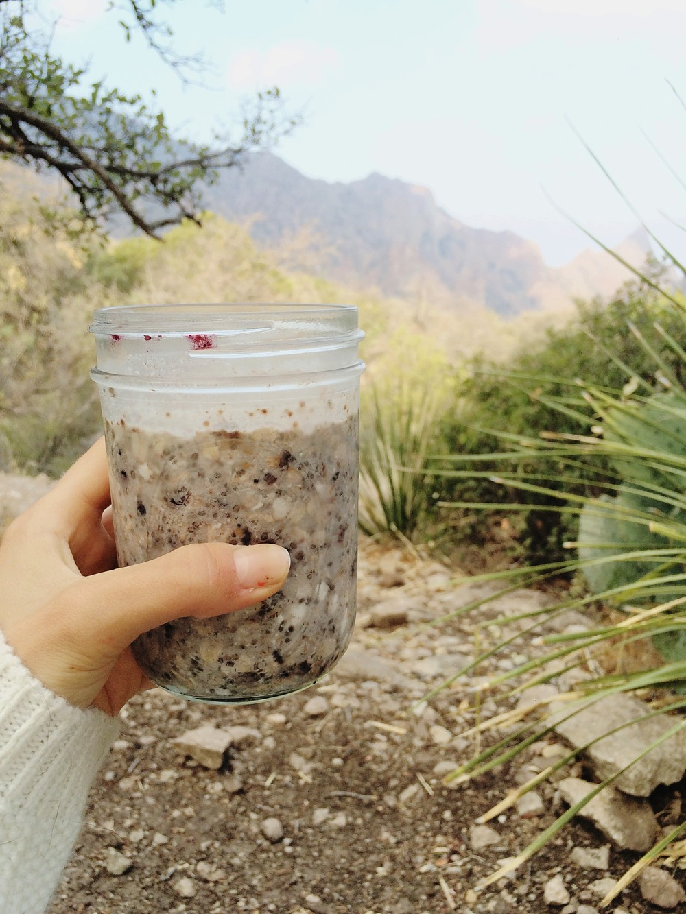 Blackberry + coconut + a killer view