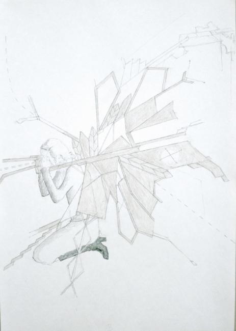 Machine à sense II.  Pencil on paper.  Din A4.  2013 copy.jpg