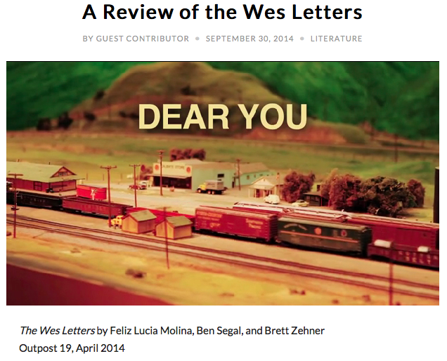 ENTROPY Magazine review of The Wes Letters