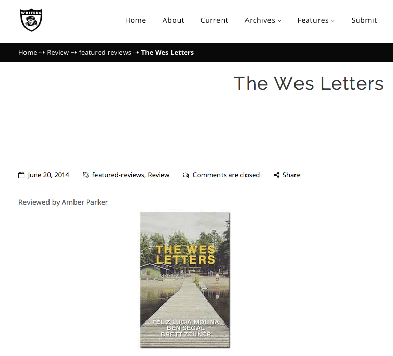 The Wes Letters review in East Bay Review