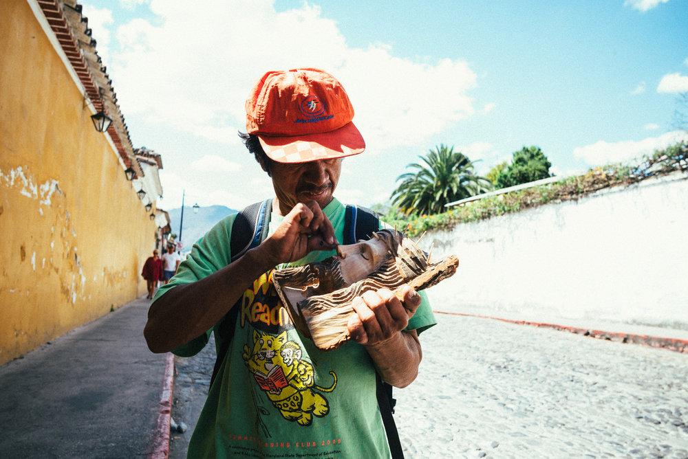 Street Artkünstler von Antigua