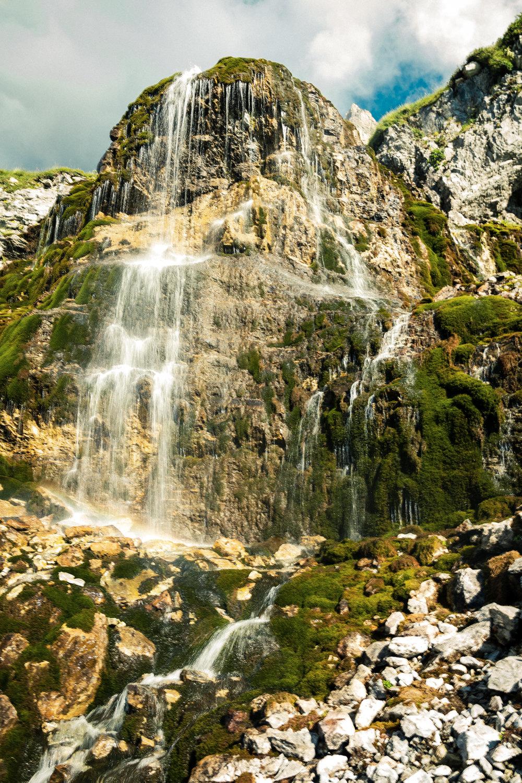 Wasserfälle mit Eiswasser