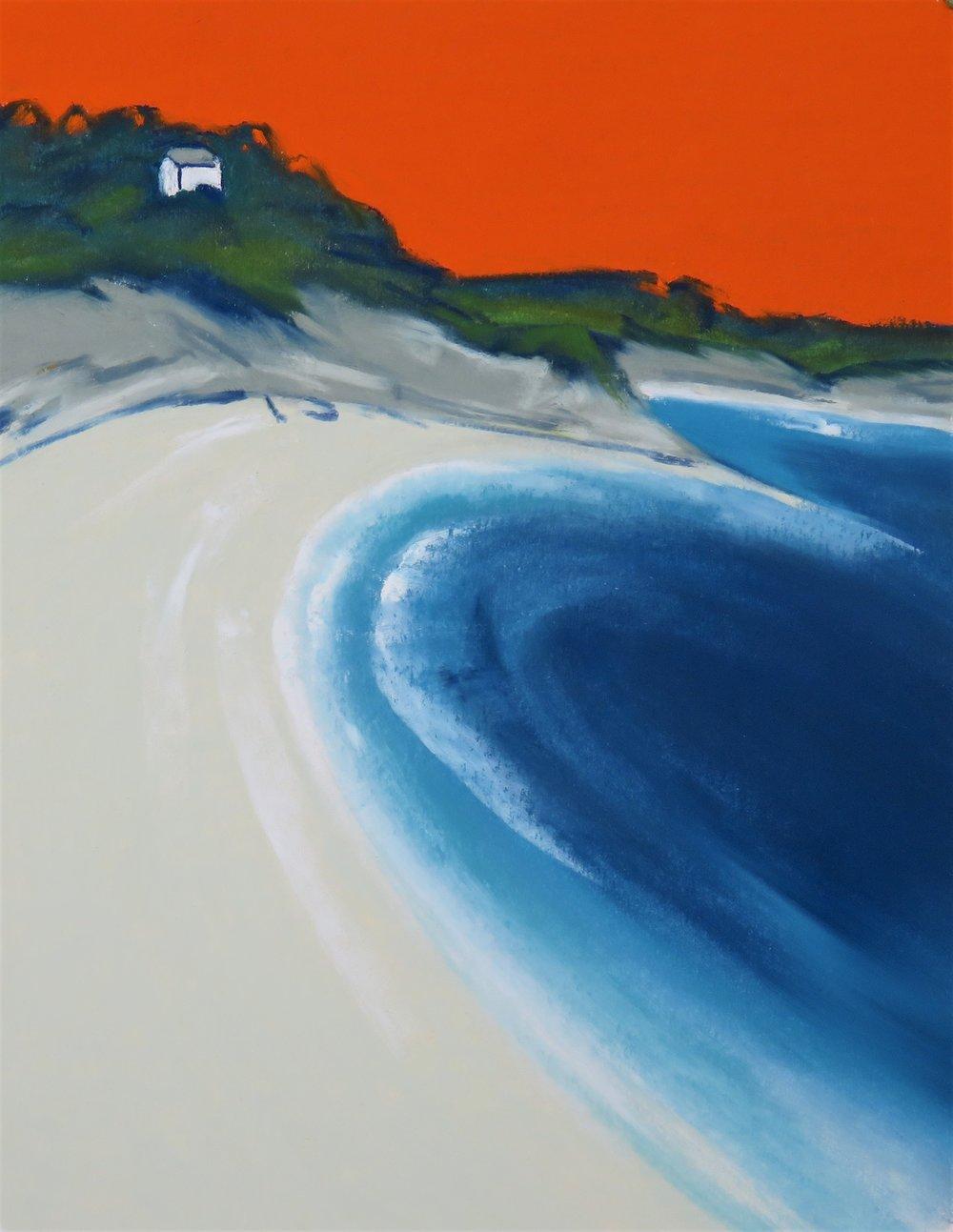 Orange Sky Over Strete Gate Beach