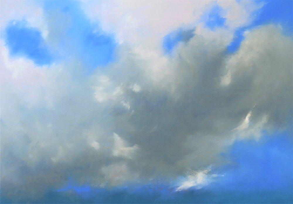 Grey Clouds Over Turquoise Sea (SOLD)