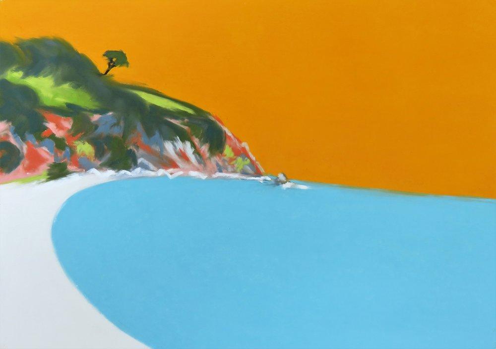 Bright Blue Sea - Bright Orange Sky - Blackpool Sands