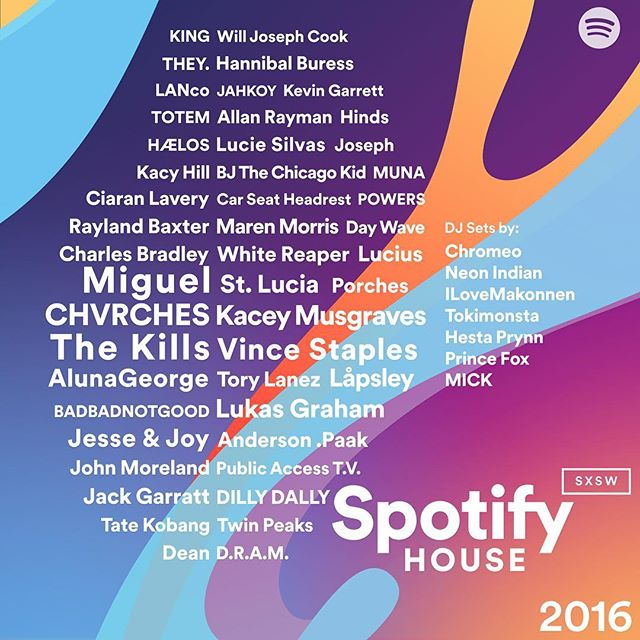 *My mind is well & truly blown!* Just announced I will be playing the #spotifyhouse @sxsw Texas 🎉🎊🎉 Such a blast to be named alongside @jackgarratt @chvrches @hannibalburess and more  RSVP your spot now http://spotifyhouse.com/RSVP @spotify