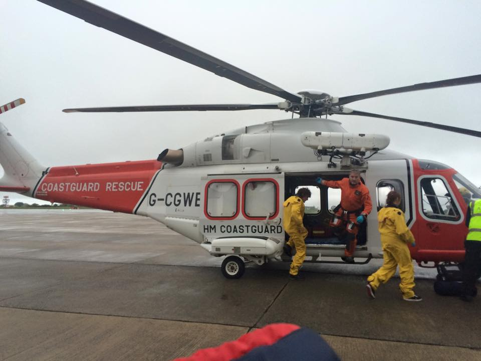 Jonah being airlifted to Southampton for suspected Ecoli / aHUS.  May 2015