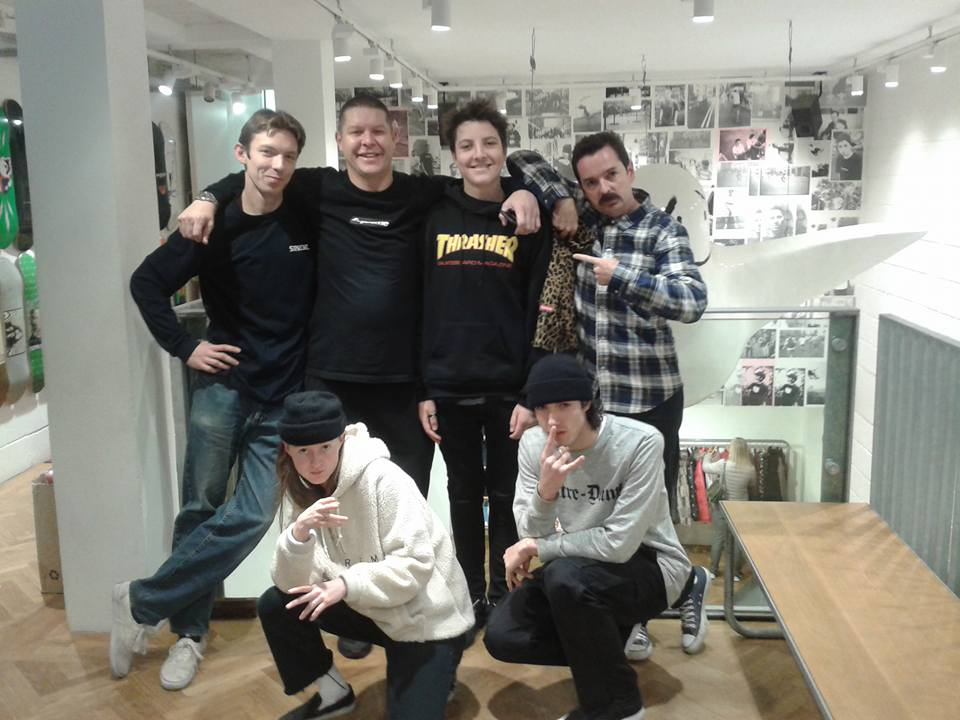 Jonah with the guys from Supreme (London) - during his Make A Wish trip.  Nov 2015