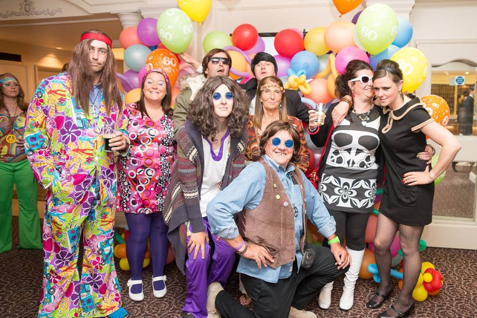 Groovy 60's Ball - group photo.  March 2016