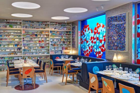 Damian Hirst's restaurant Pharmacy