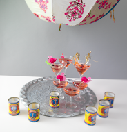 Heady cocktails under Indian umbrella's
