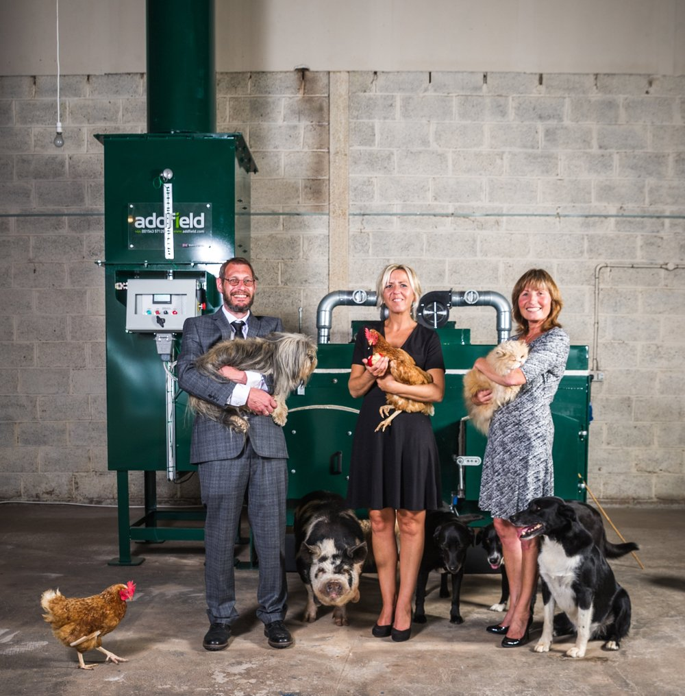 The Barton Hill Pet Crematorium Team Left to right, George, Fred (Karina) & Wendy