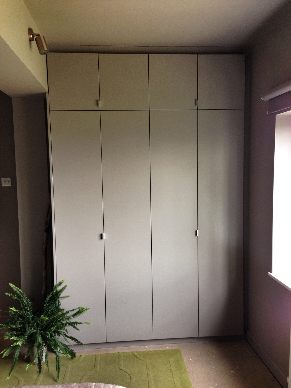 Flush modern contemporary doors with shadow gap detail.