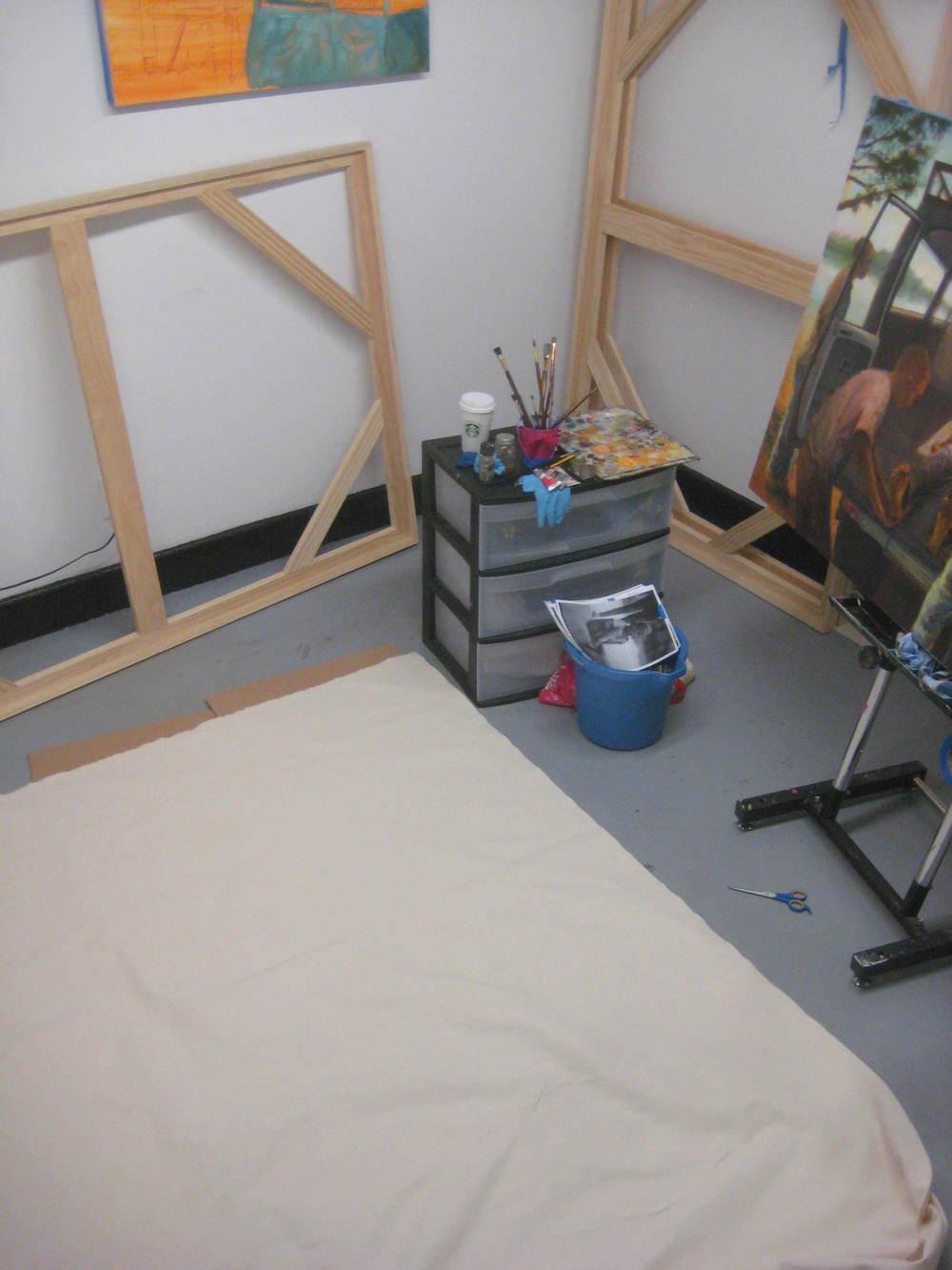Artist's studio on 3/14/2016