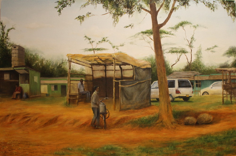 "Limuru, Kenya,   2015, oil on canvas, 24"" x 36"""