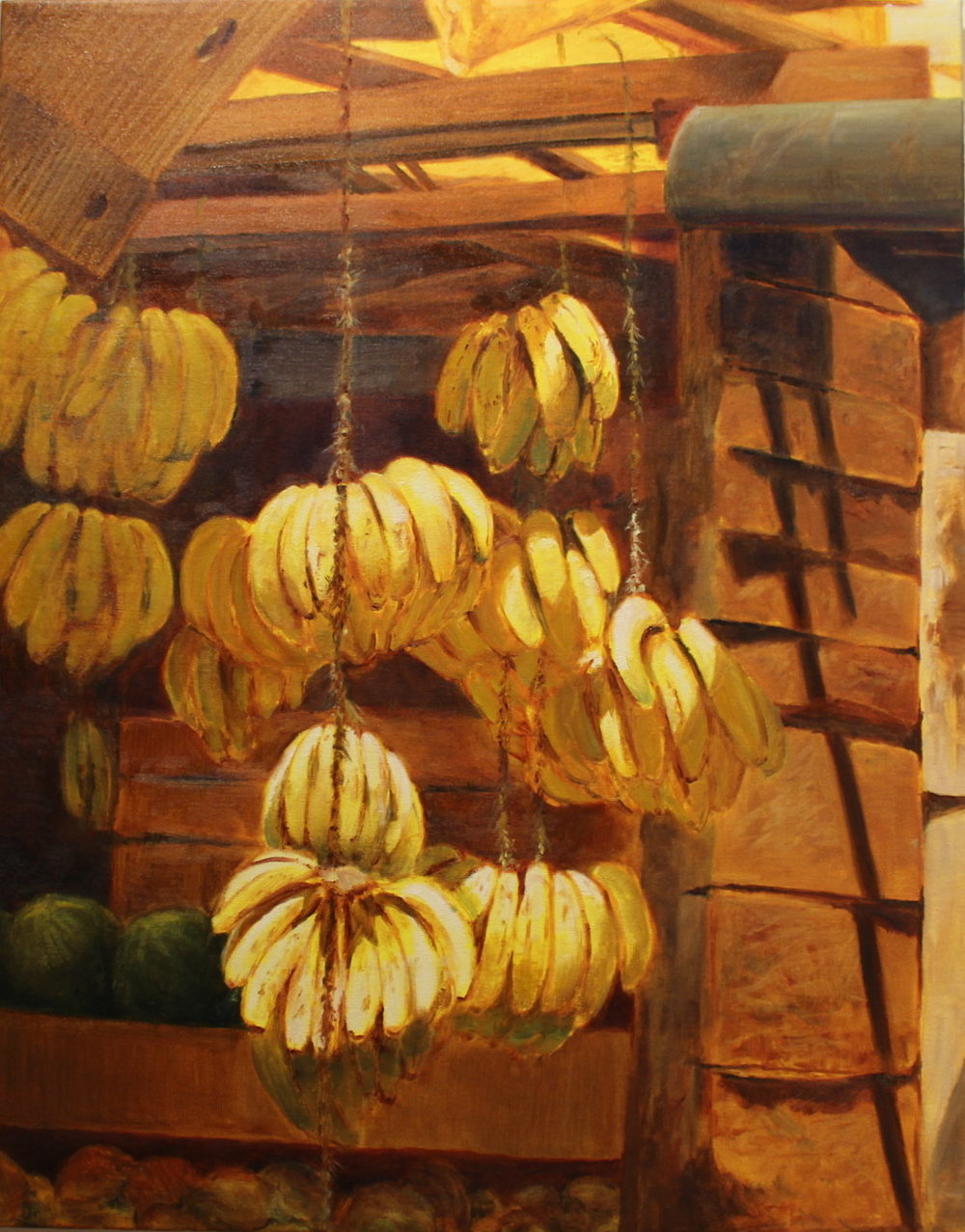 "Abundance,  2016, oil on canvas, 22"" x 13"""