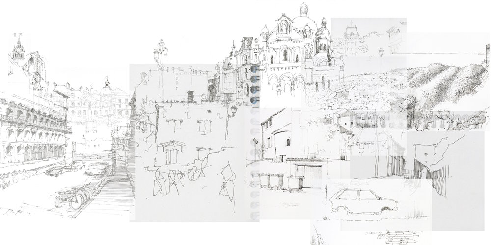 "Sketch Compilation I, 2016, digital, 20"" x 40"""