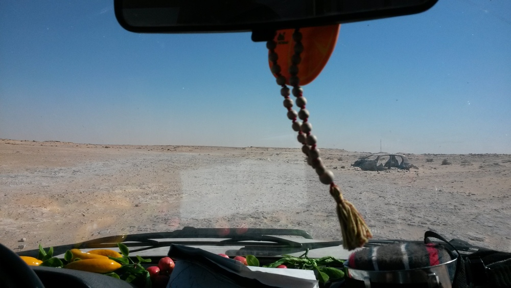 The view, driving across a minefield in Mauritania.