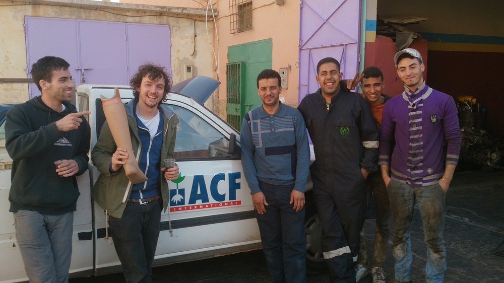 The mechanics who saved the Queen in Western Sahara.