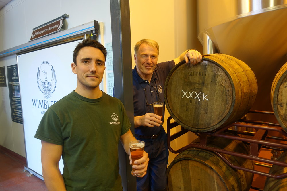 From left: Head Brewer Charlie Long and Master Brewer Derek Prentice