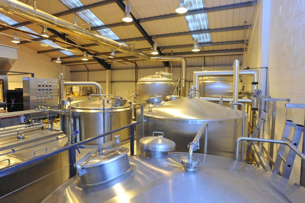 Wimbledon Brewery's 30-barrel brewhouse