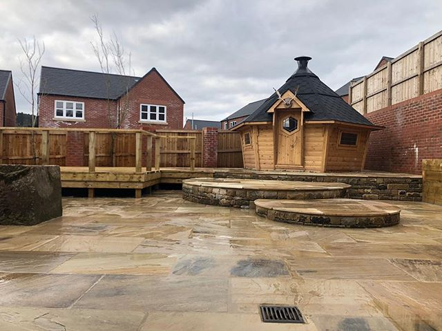 Latest project complete. This job involved clearing over 150 tons of earth and a vast amount of drainage and soakaways fitting before we could start as the original ground was very,very wet! Everything in this garden was completed by us apart from the cabin which was contracted in by the customer.  Give us a call if you have any queries or for a quotation on 07492859317. Or visit our website for more information www.majorbrothers.co.uk #majorbrothers #building #builders #buildersofinstagram #landscape #landscaping #landscapers #landscapers_of_instagram #indian #paving #patio #patiolife #decking #deck #cabin #hut #hobbit #traditional #stone #stonework #astroturf #artificialgrass #curves #matlock #derbyshire #peakdistrict #heritage