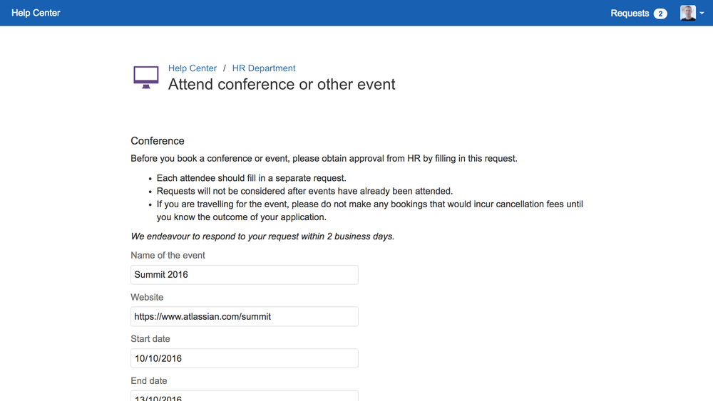 ProForma forms can be displayed on the Customer Portal of JIRA Service Desk