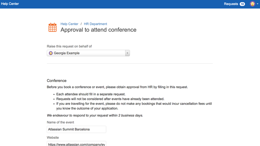 ProForma makes it possible to add detailed forms to the JIRA Service Desk customer portal