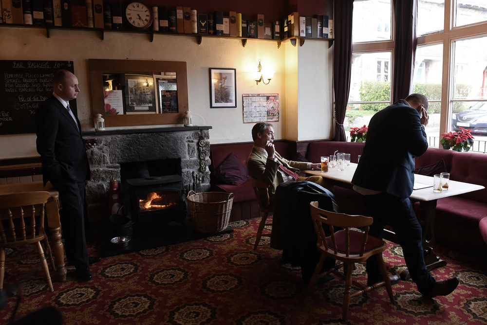 Taking a break in The Coldstreamers pub, nr. Penzance, March 4th 2015
