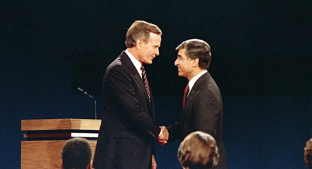 Michael Dukakis lost a bitter presidential campaign to George H.W. Bush.