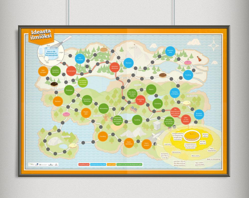 Ideasta Ilmiöksi -kartta.