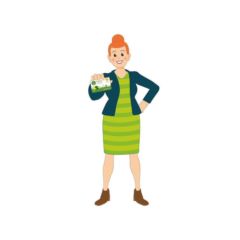 Linkki-matkustajia: Nainen ja matkakortti