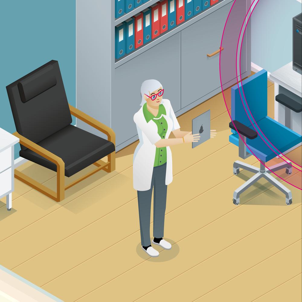 Lähikuva ylilääkärin huoneesta