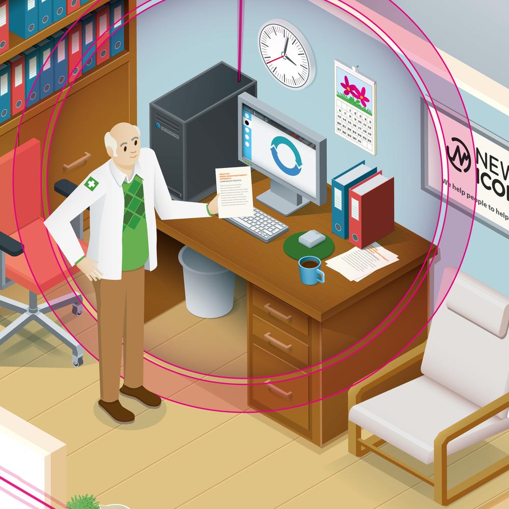 Lähikuva apteekkarin huoneesta
