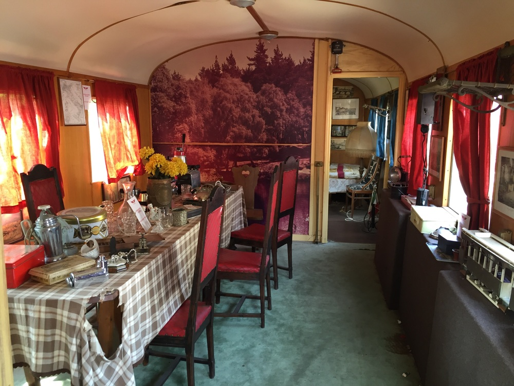 First class. The train 'suite' of the wealthy in the 19th century...