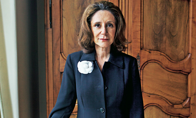 "Sherry Turkle, portrait from the Guardian article "" I am not anti-technology, I am pro conversation """