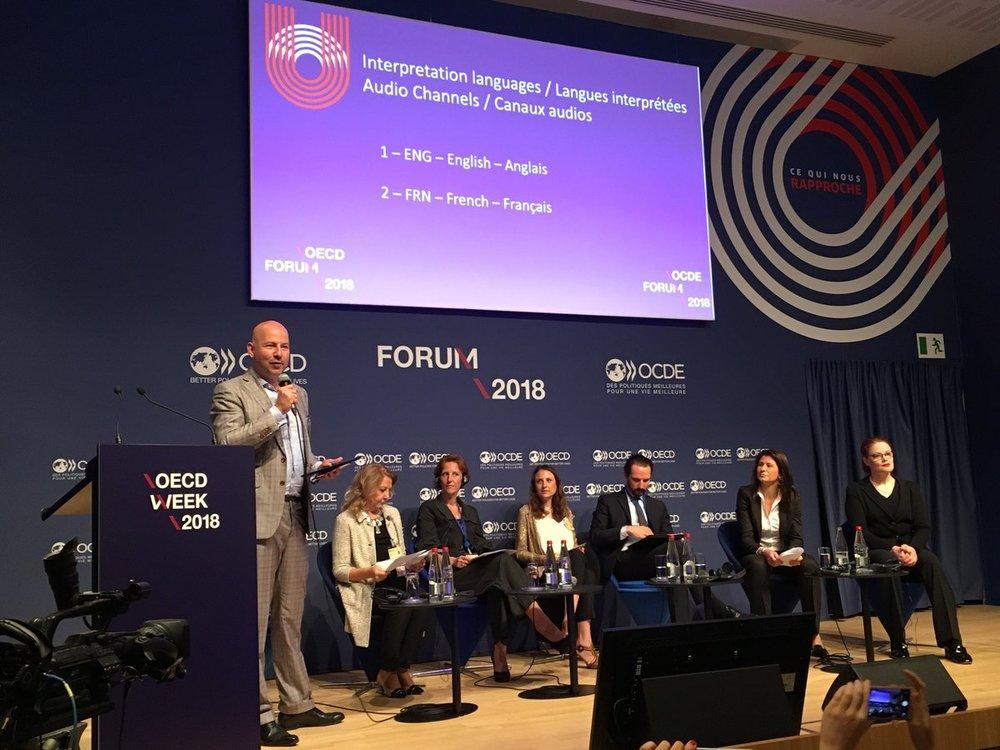 Chiara Condi at the OECD Summit Paris 2018
