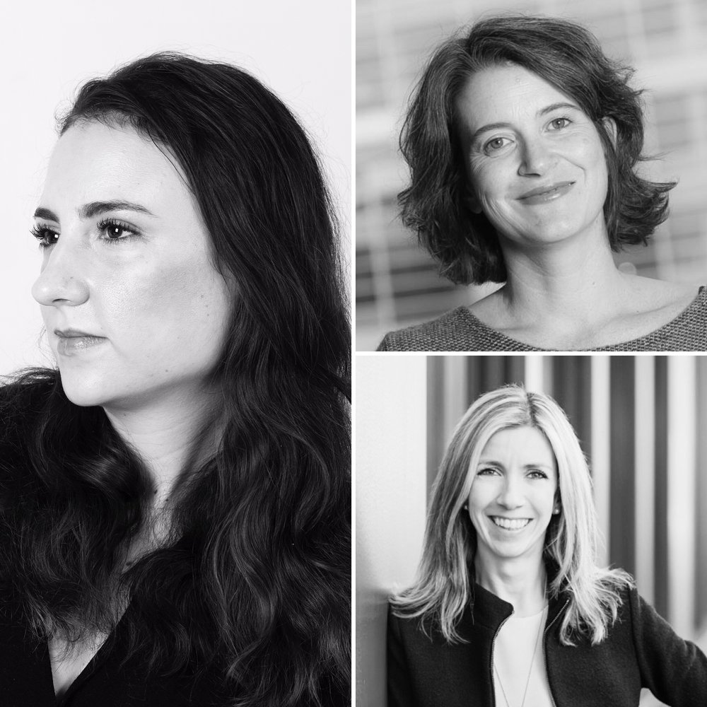 Clockwise: Chiara Condi (left), Riccarda Zezza, Manuela Andaloro