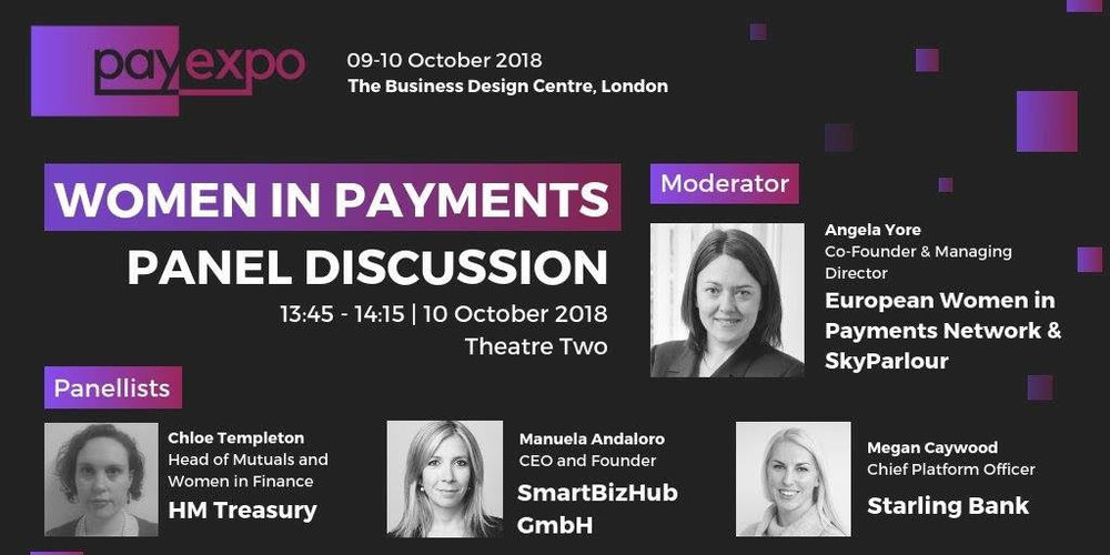 women in payments. payexpo. manuela andaloro