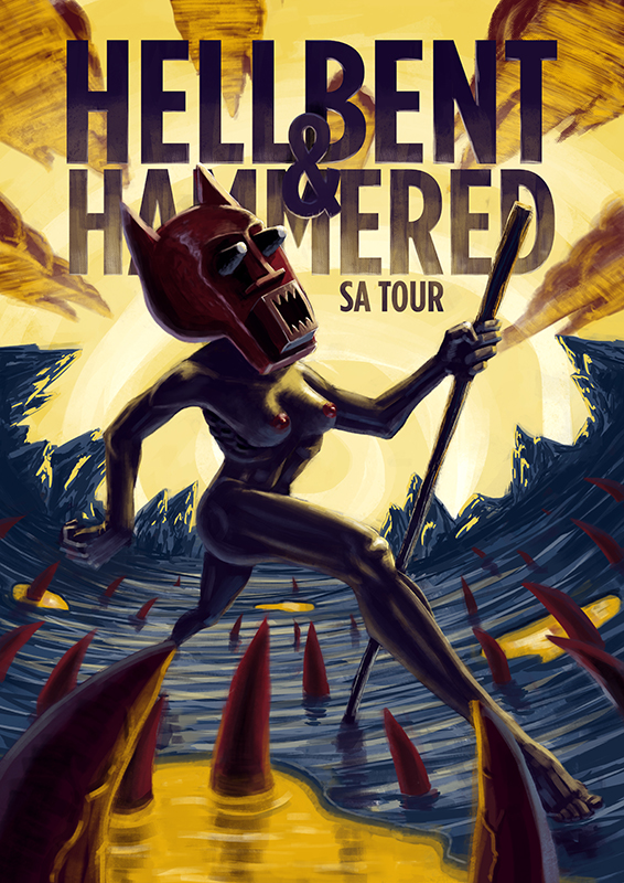 Hellbent & Hammered Tour Poster