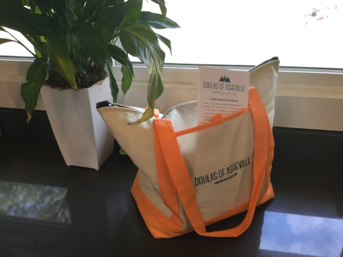 Doulas of Asheville placenta encapsulation clients receive their own safe transport kit and instructions for getting their placenta home.