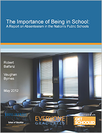 Balfanz, R. & Byrnes, V. (2012) The importance of being in school: A report on absenteeism in the nation's public schools. iBaltimore: Johns Hopkins University Center for Social organization of Schools.