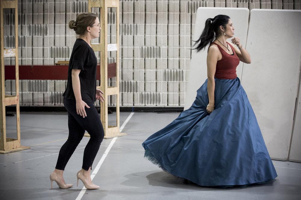 Emily Edmonds and Vivica Genaux, Artaserse rehearsals.jpg