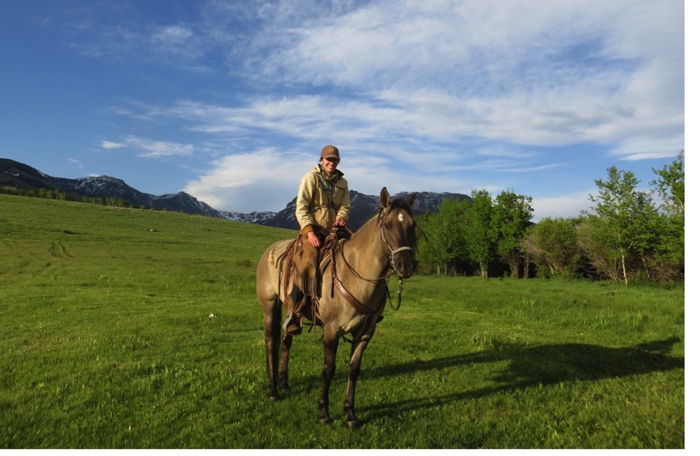 Range rider Melissa and her horse Poco at the end of a morning ride (Photo: Hilary Anderson)