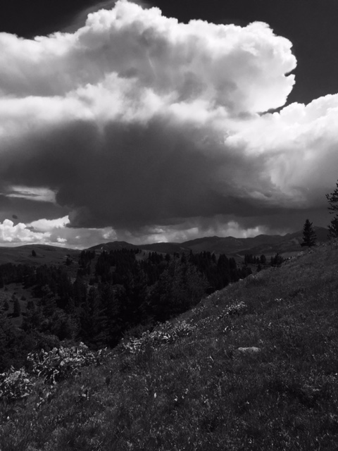 Image courtesy of Pipitone Law.  Approaching storm atop Drinking Horse Mountain in Bozeman, MT.