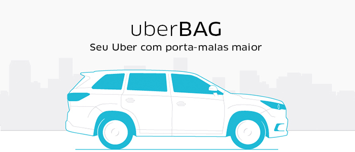 Passageiros que precisam de um carro com porta malas maior agora podem contar com o UberBAG.  COMO PARTICIPAR DA UBERBAG? É automático!se cadastrou um veículo aceito como UberBAG, será ativado dentro dos próximos 7 dias.