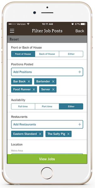 Clothbound - Filter Restaurant Jobs
