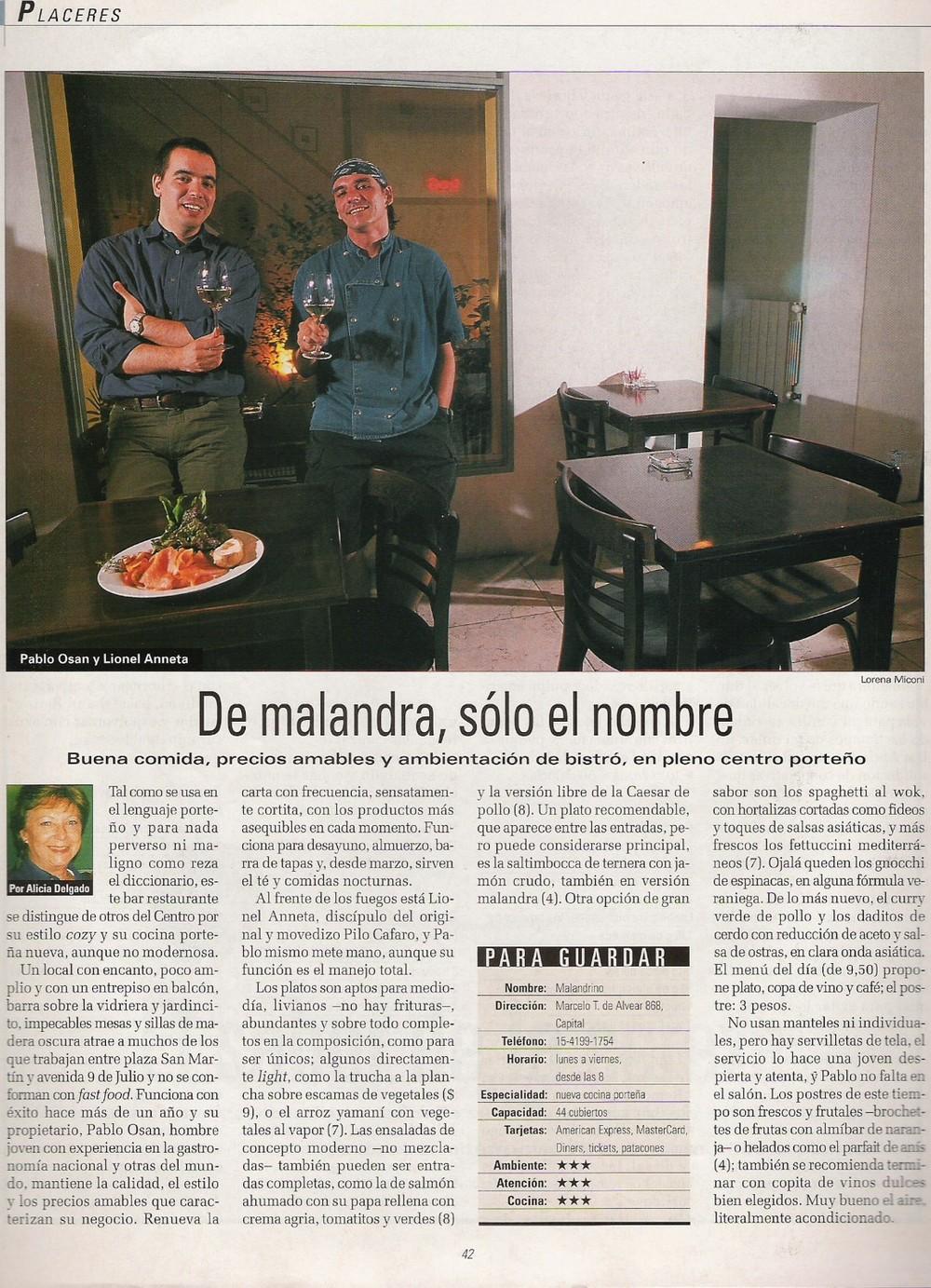 Revista La Nación - FEB/2002