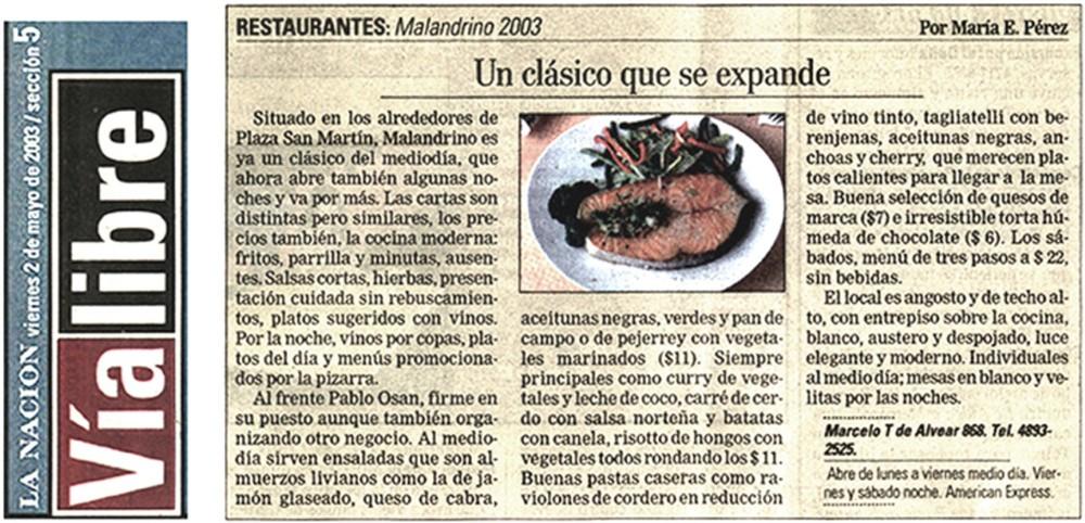 La Nación - MAY/2003